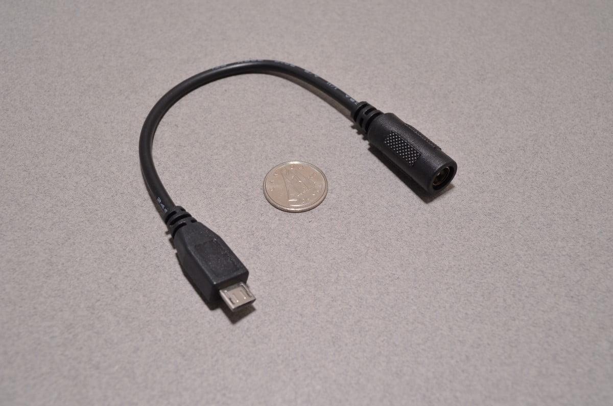 Dc Barrel To Usb Micro Adapter