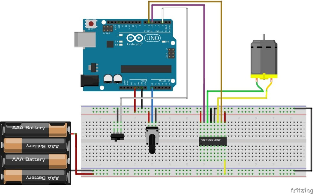 medium resolution of controlling a dc motor with arduino bc robotics wiring 3 way light switch diagram motor control with arduino