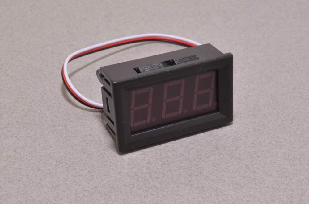 medium resolution of panel mount volt meter red 0 30v
