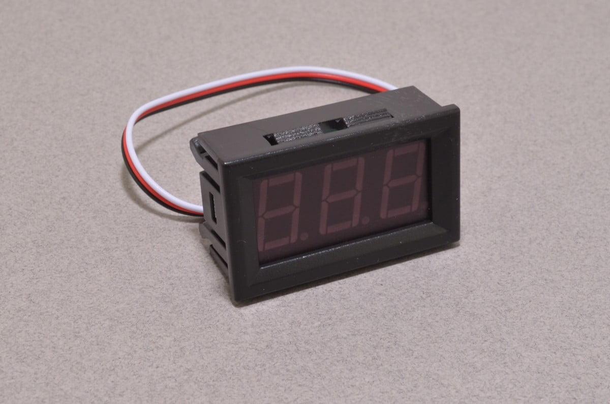 hight resolution of panel mount volt meter red 0 30v