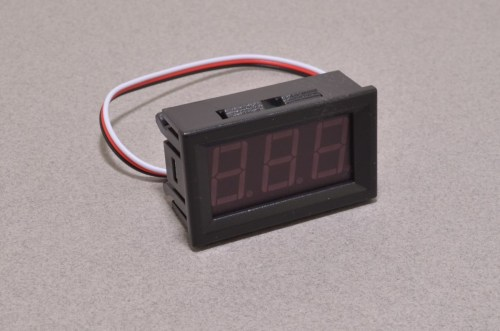 small resolution of panel mount volt meter red 0 30v