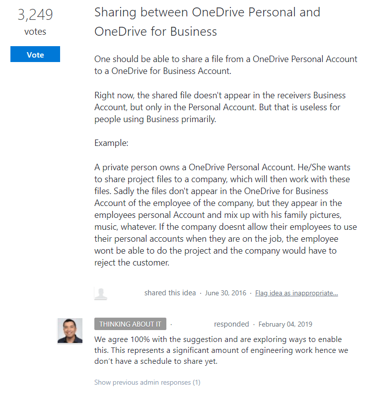 onedrive feature request