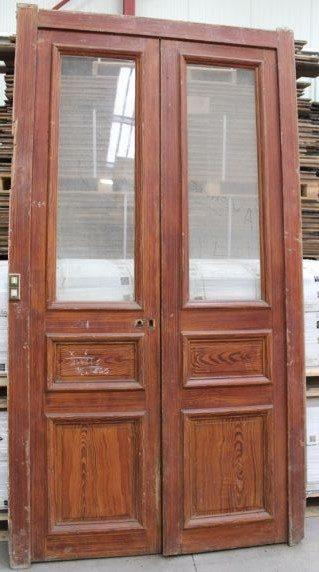 Porte Haussmannienne en bois  Avec vitrage  BCA Matriaux Anciens