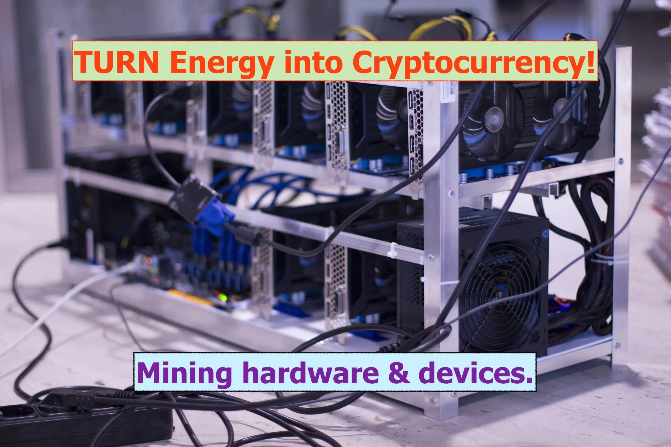 Turn energy into crypto!
