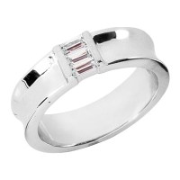 BAGUETTE WEDDING BAND SETS - WEDDING BAND SETS - RINGS