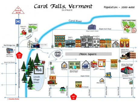 Map of the Town of Carol Falls