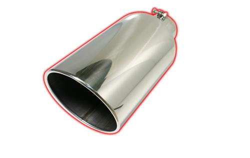 flo pro exhaust tip 4 7 x 18 rolled angle cut stainless