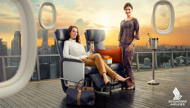 Image result for singapore airlines premium economy class ad