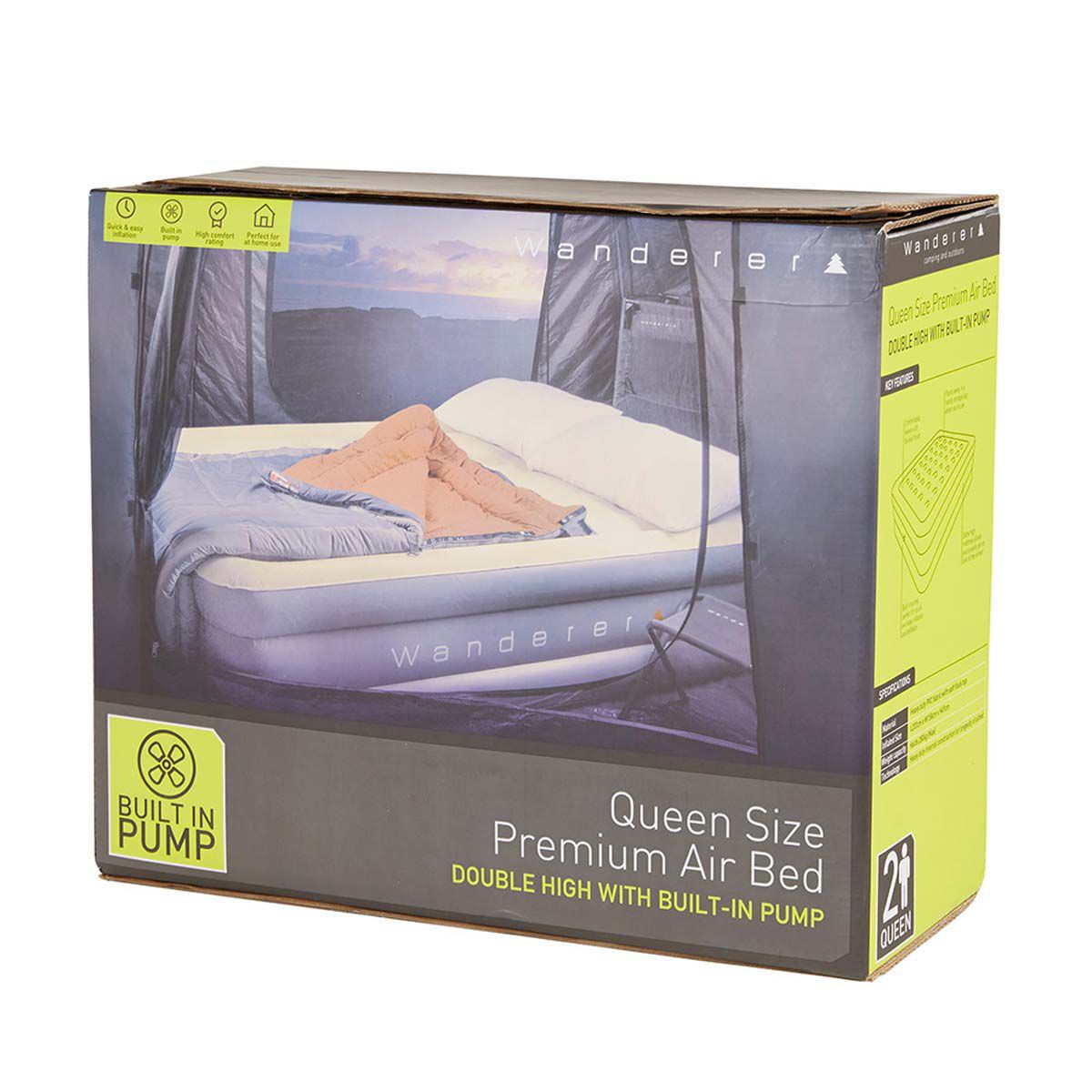 Wanderer Double High Premium Air Bed with Pump Queen  BCF