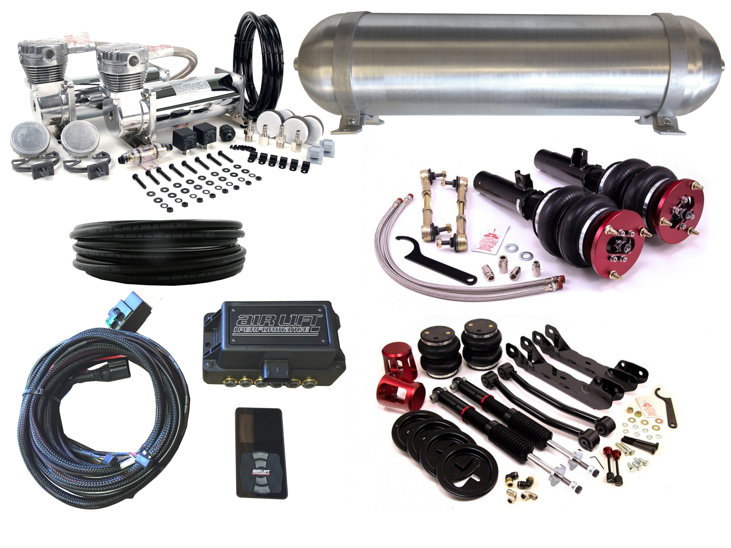 2006-2011 BMW 3 Series (E90) Air Suspension Kit - LEVEL 4 with Air Lift Performance Height Control