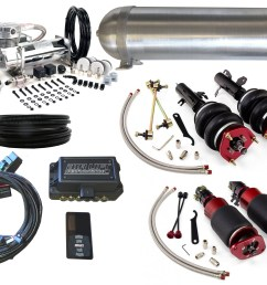 02 06 mini cooper r50 r52 r53 airbag suspension kit level 4 with air lift performance 3p management [ 2400 x 1800 Pixel ]