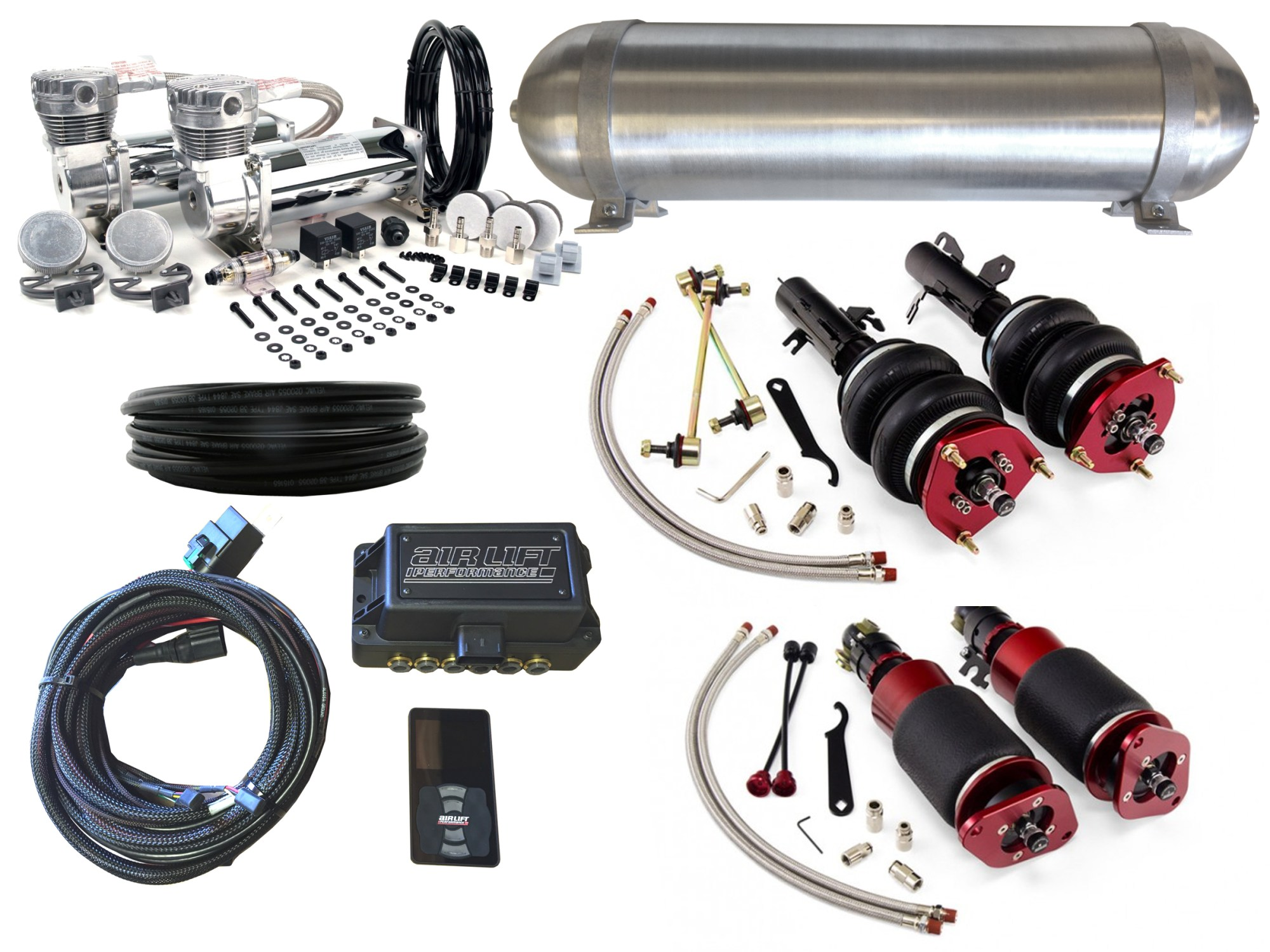 hight resolution of 02 06 mini cooper r50 r52 r53 airbag suspension kit level 4 with air lift performance 3p management