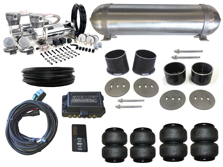 Complete FBSS Airbag Suspension Kit - 61-64 Cadillac - LEVEL 4 with Air Lift Performance Height Control