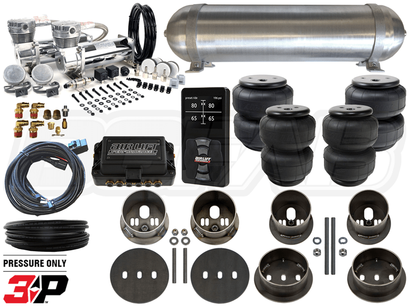 Complete Air Suspension Kit - 1959-1960 Cadillac LEVEL 4 w/ Air Lift Performance 3P