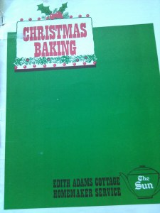 Cover of Edith Adams Christmas baking