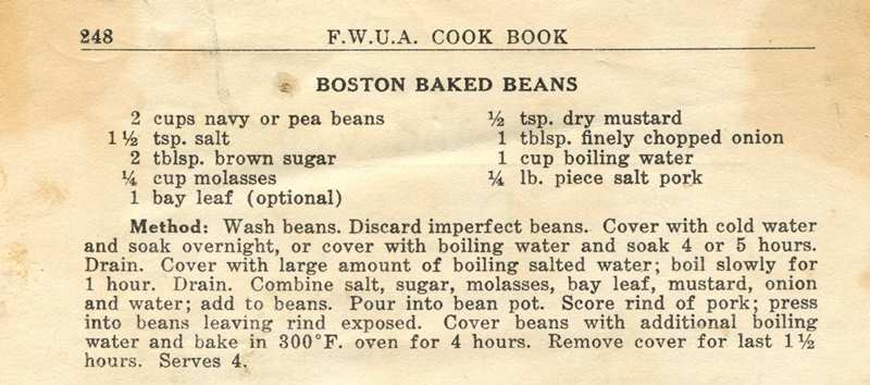 Old Fashioned French Canadian Baked Beans Recipe