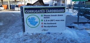 Corrugated cardboard recycling