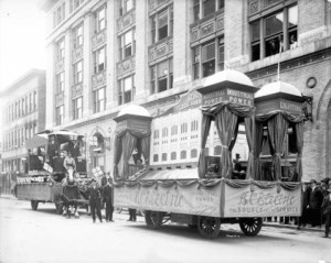 BC Electric Railway company float 1914
