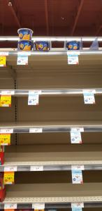 Empty shelves at Safeway march 2020
