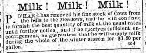Advertisement Milk! Milk! MIlk!