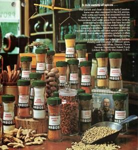 Nabob spices display -
