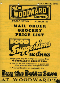 Mail order grocery lists
