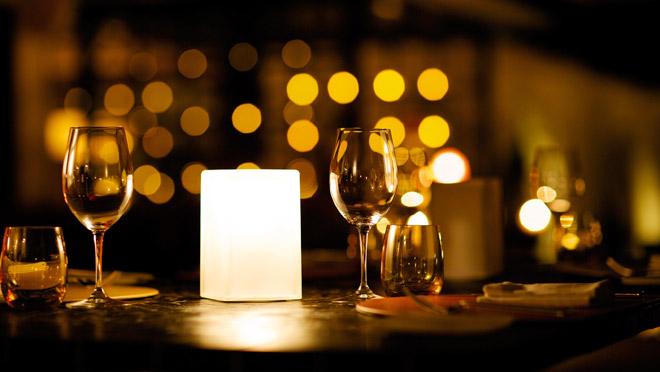 Restaurant Lighting Over Table
