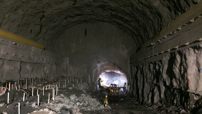 John Hart Generating Station underground tunnelling taking shape