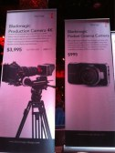 New BlackMagic cinema Cameras