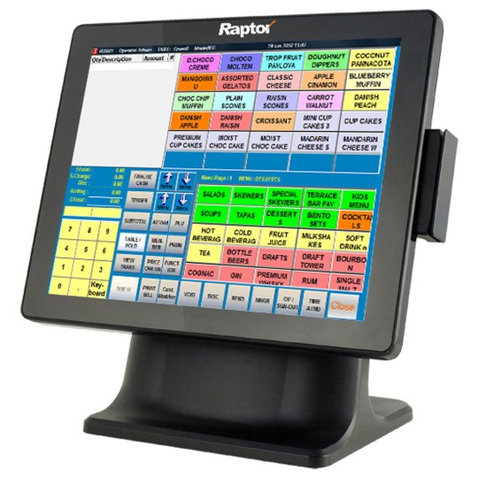 Raptor Point of Sales (POS) was designed to be quick and easy to use