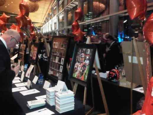Orange Helmet Auction table. Photo Credit: BCLionsDen.ca