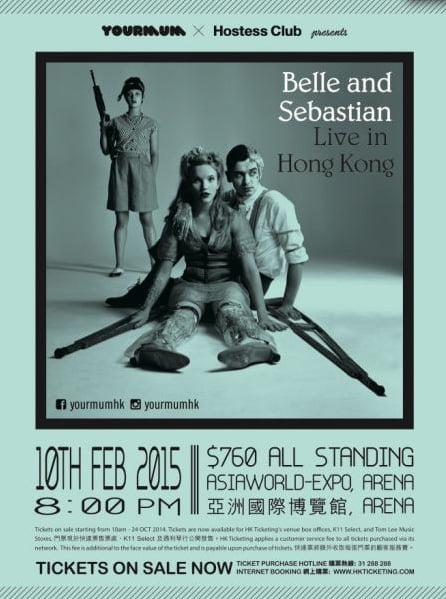 Belle and Sebastian @ AsiaWorld Expo - 8pm, 10 February, 2015
