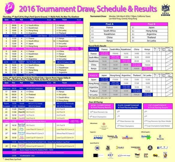 HKWR7s 2016 schedule