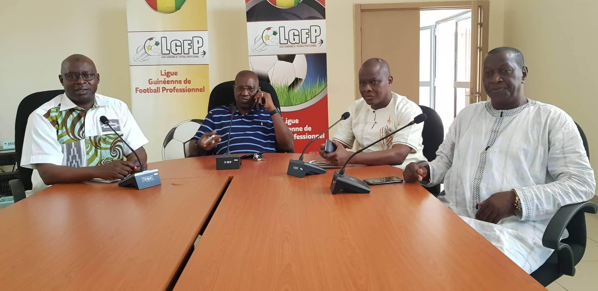 a travers une reunion extraordinaire tenue ce samedi 18 aout 2018 a son siege le bureau executif de la ligue guineenne de football professionnel lgfp