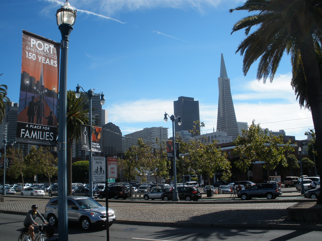 Embarcadero view with Transamerica Building