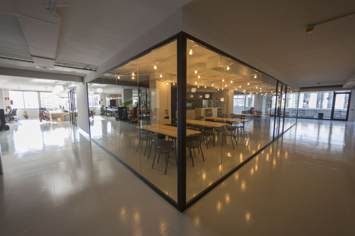 Startup offices with a nice living room area  Barcelona
