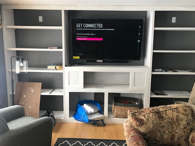 Structured Cable Panel Installation, Mequon, New Construction Audio/Visual, Brookfield New Construction Security, Network Cabling, Basement Family Room A/V in New Berlin, WI