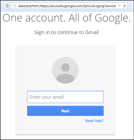 aspecto pagina phishing