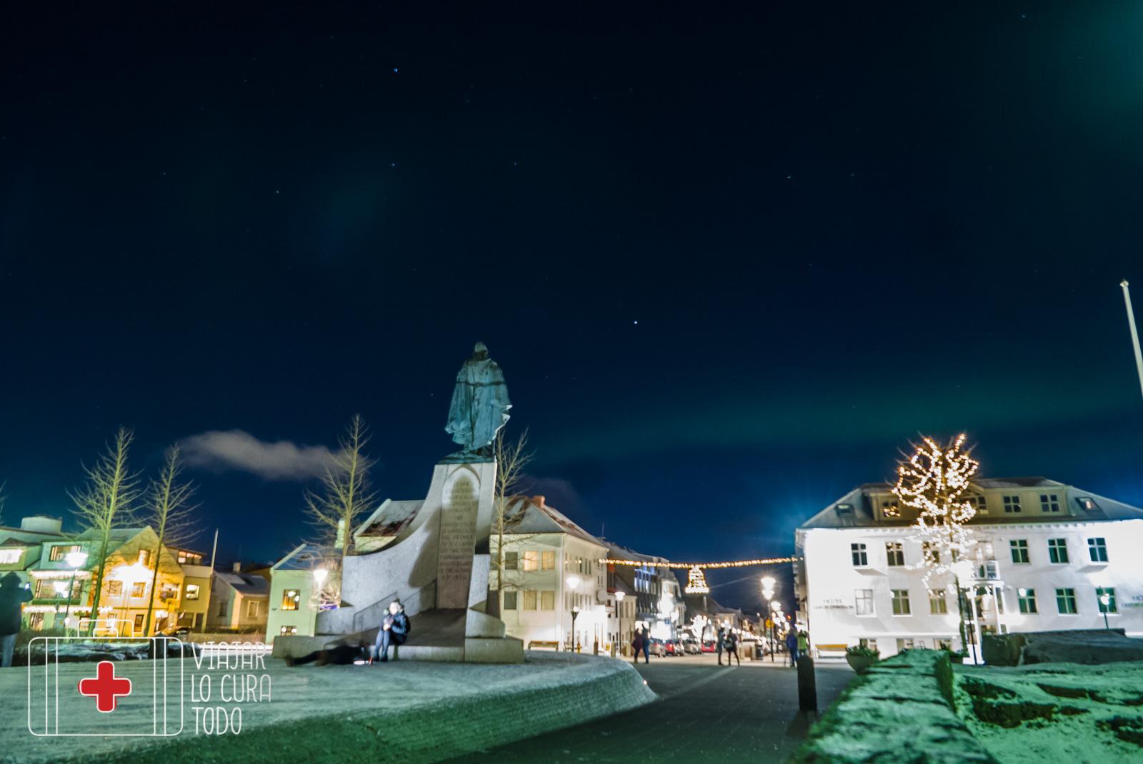 northern light reykjavik