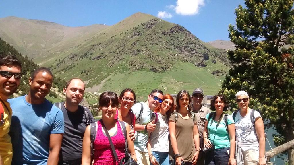 Foto de grupo bloggers en Vall de Núria