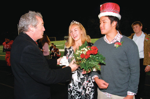 Seniors Anna Duning and Daniel Lim were named Homecoming King and Queen.  For more pics of the court and the evening by Bob Morrison, visit www.bbpix.com/sports.