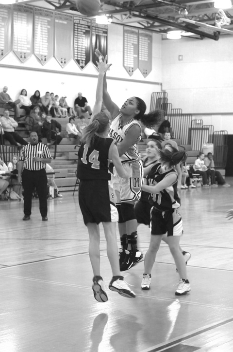 Mason High Senior Ashley Thompson lets a shot fly against Briar Woods. (Photo: Bob Morrison, Bonnie Blair Productions LLC)