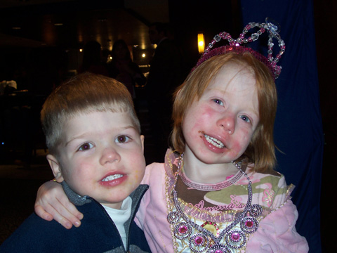 Ava, shown here with her brother, enjoyed a performance of Disney on Ice during the troupe's recent stop in D.C. Ava has been diagnosed with Acute Lymphoblastic Leukemia