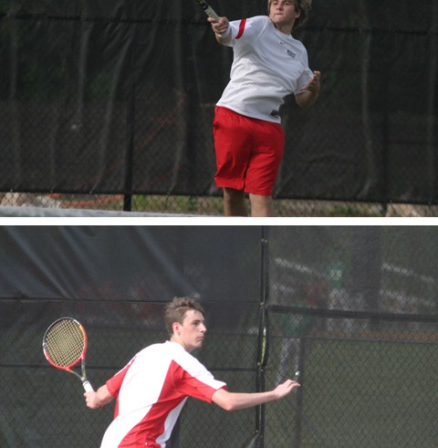 Alex Goetting won his fourth state title in four years as the No. 1 player on the boys tennis team. (photo: News-Press)