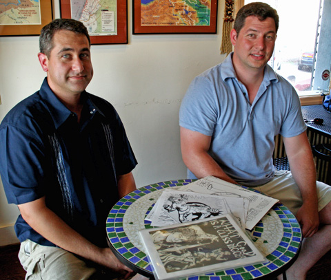 Dave (left) and John Milstein have been reading and writing comics since their youth, but now find themselves on the precipice of a professional contract. (Photo: News-Press)