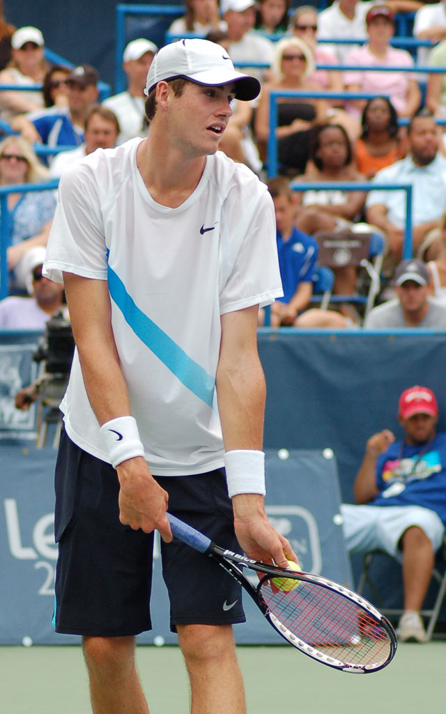 John Isner couldn't extend his run of upsets all the way to the Legg Mason title.