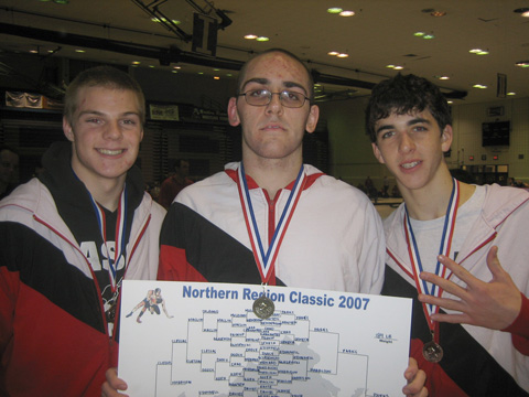 DEJA VU ALL OVER AGAIN: Barret Kennett, Steve Parks and David Ray all claimed medals at the prestigious NOVA Classic held at Fairfax High School. (Photo: Diana Britell)