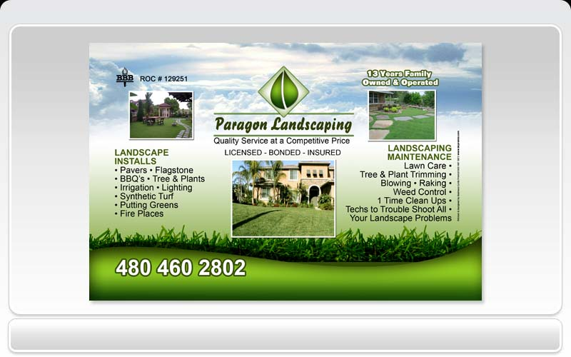 Landscaping Business Flyers Paragon Landscaping Flyer   Designmore