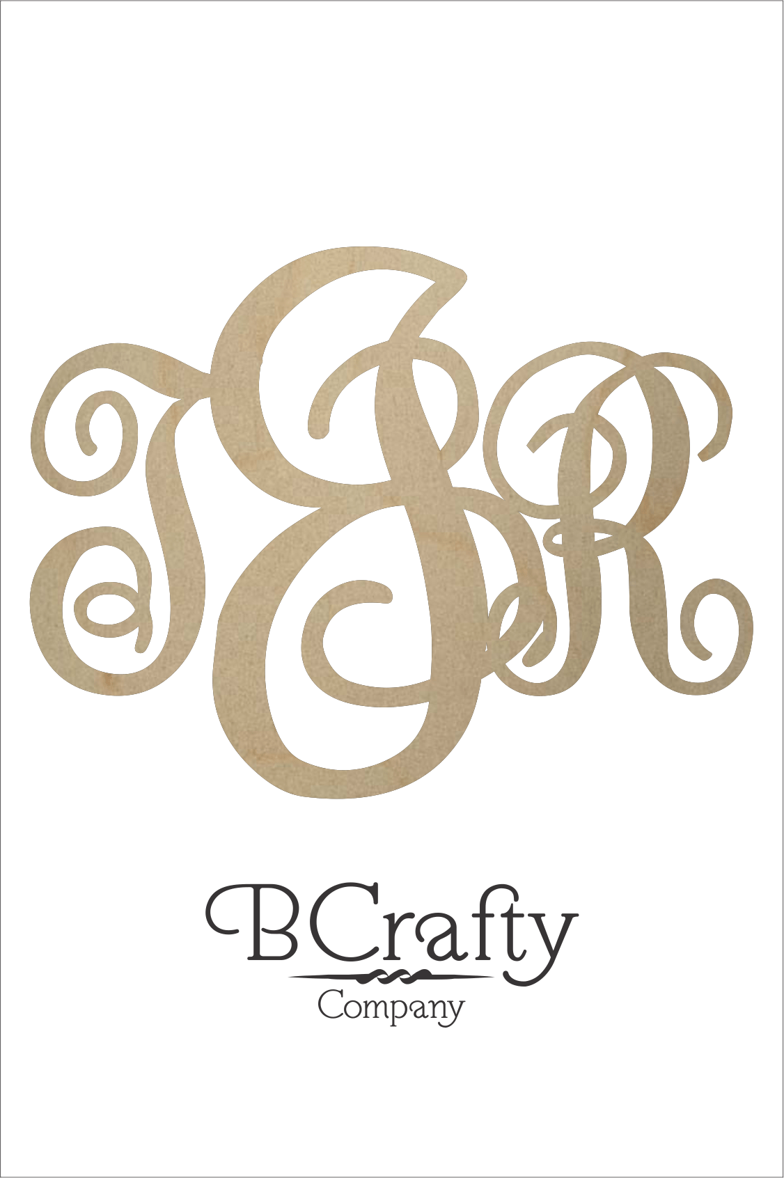 wooden monogram initials