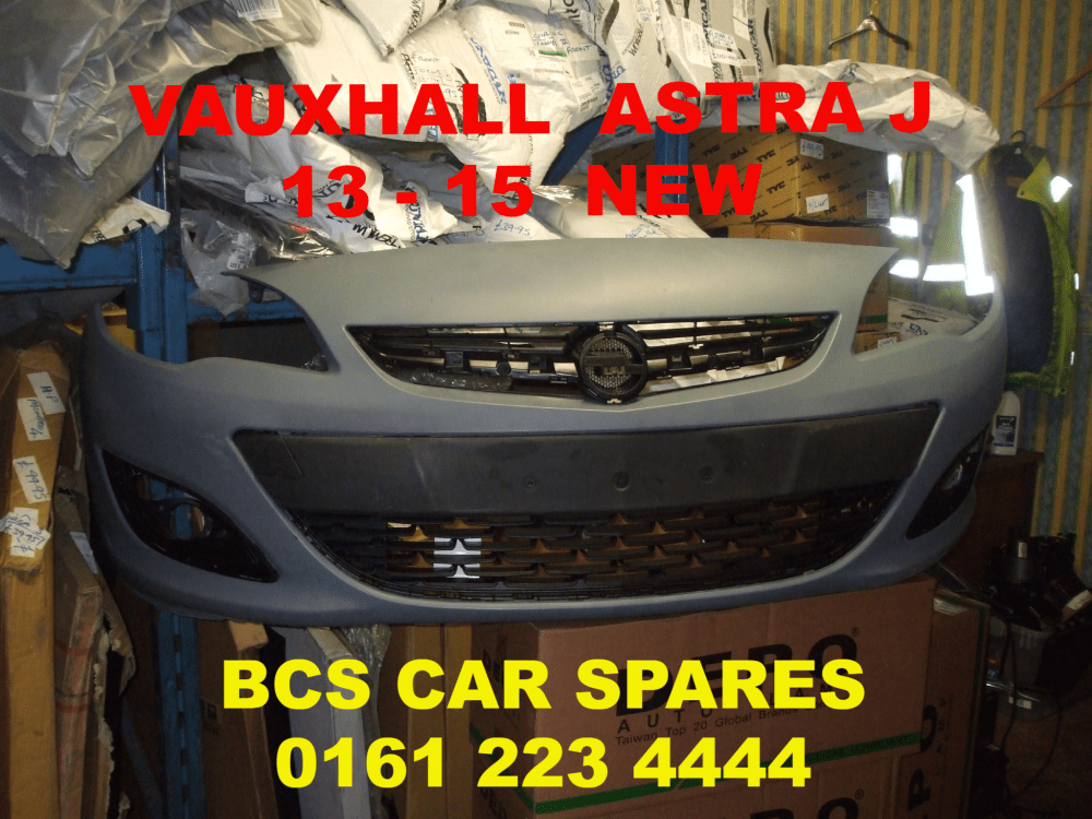 medium resolution of vauxhall astra mk 6 j front bumper new 2013 2014 2015 facelift complete inc grills